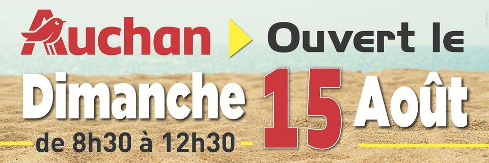 Ouverture du 15 août d'Auchan Cherbourg