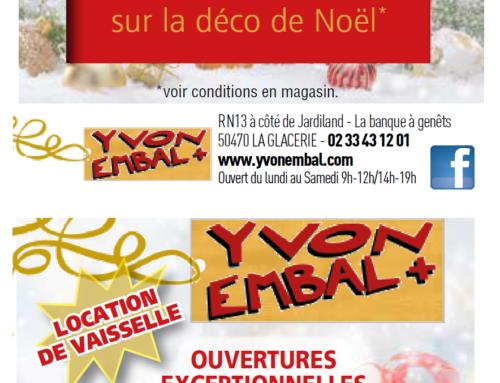 Offres spéciales fêtes de fin d'année Yvon Embal +
