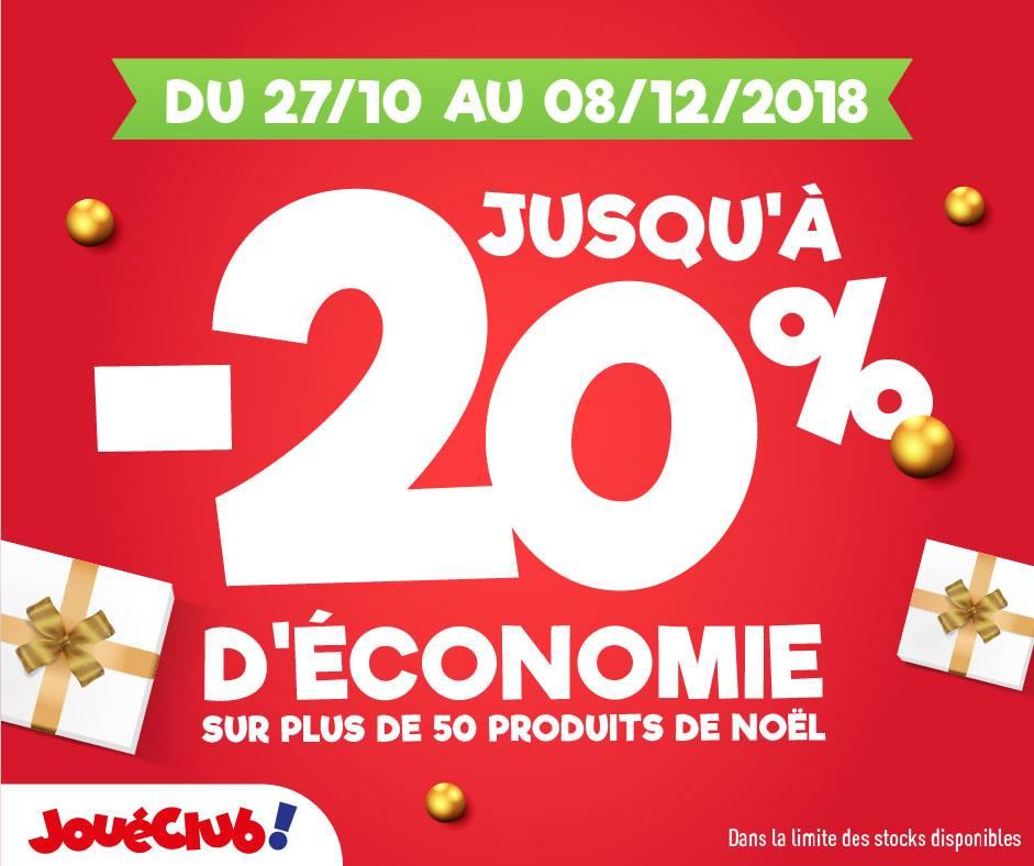 Jusqu'à 20% d'économie sur une sélection de produits chez JOUE CLUB Tollevast zone CAP'NOR