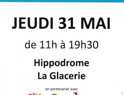 Evénement: collecte de sang pour l'EFS à l'Hippodrome de la Glacerie – 31 mai 2018