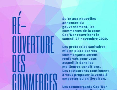 Ré-ouverture des commerces samedi 28 novembre