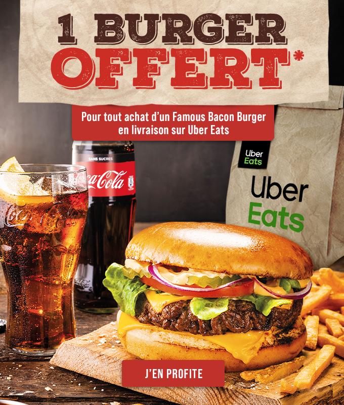Offre Buffalo Grill sur Uber Eats