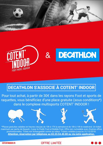 Partenariat Décathlon Cherbourg zone CAP'NOR et Cotent'Indoor