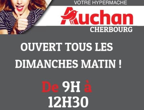 Auchan: nouveau – ouverture le dimanche
