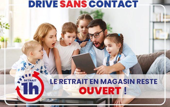 Drive JouéCLub sans contact, service disponible pendant le confinement