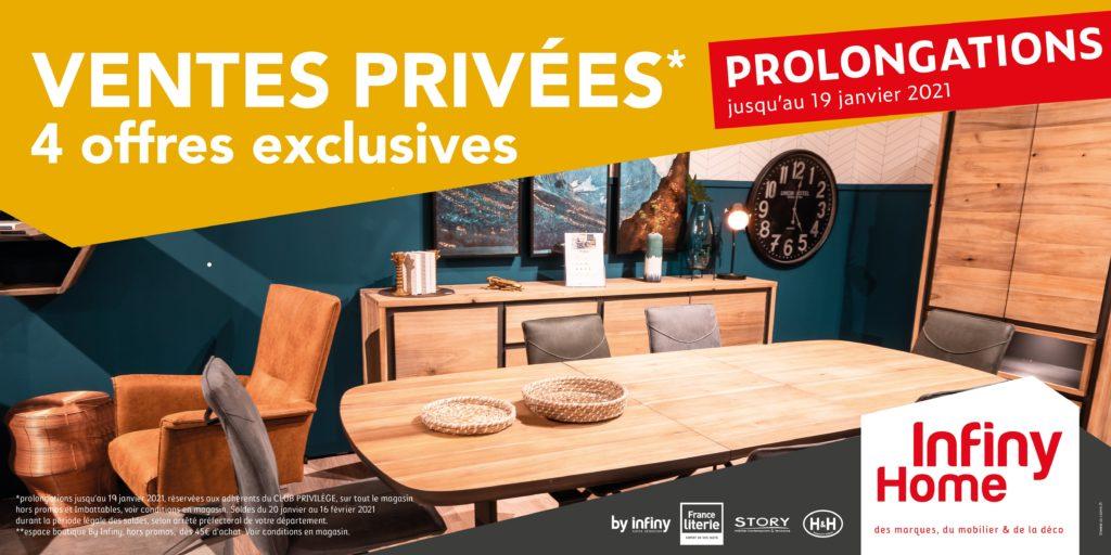 ventes privées Infiny Home